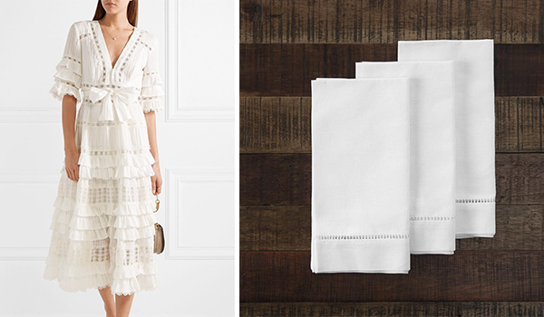 Zimmerman Broderie Anglaise on Netaporter; Anna Craven Linens