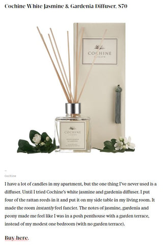 Cochine White Jasmine & Gardenia Reed Diffuser on Hello Giggles