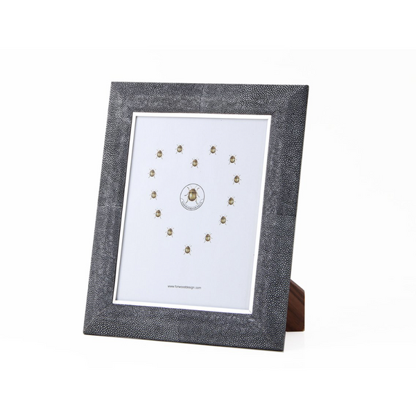 Shagreen Photo Frame - Charcoal, Large