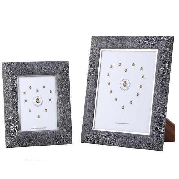 Shagreen Photo Frame - Charcoal Small