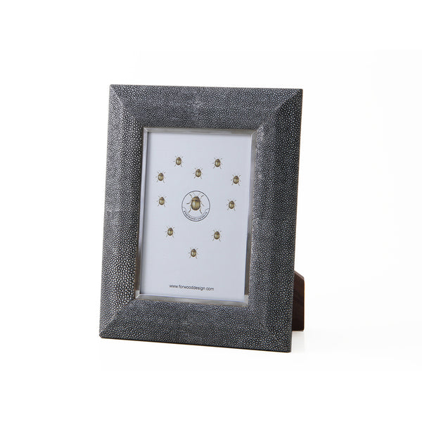 Shagreen Photo Frame - Charcoal, Small