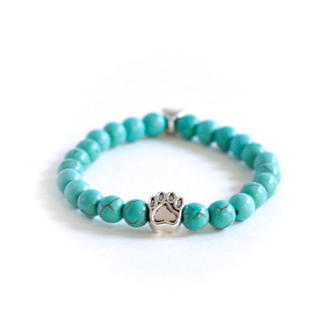 Turquoise Stone Bracelet, Bracelet, The Pup Nation - The Pup Nation