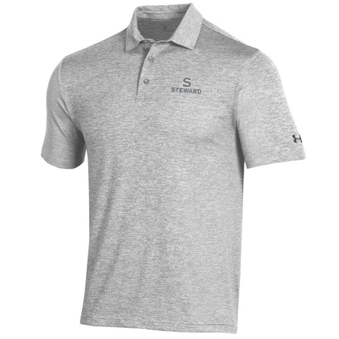 Playoff Heather Polo by Under Armour in Pitch Grey