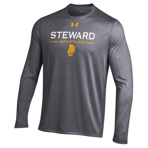 Long Sleeve Men's T-shirt by Under Armour in Gray