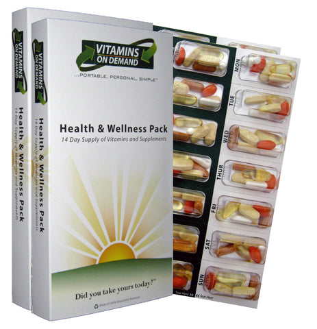 Custom Health & Wellness Vitamin Pack (4-Week Supply)