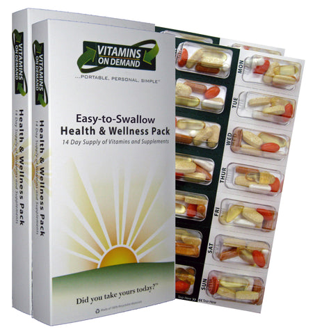 Easy-to-Swallow Health & Wellness Vitamin Pack (4-Week Supply)