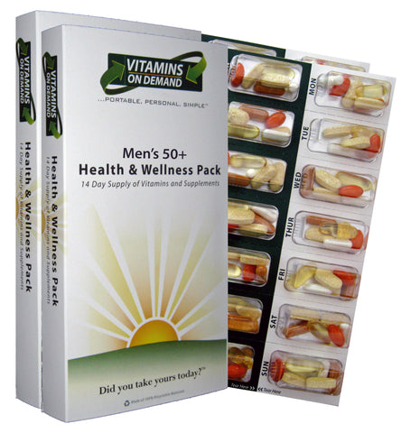 Men's 50+ Health & Wellness Vitamin Pack (4-Week Supply)
