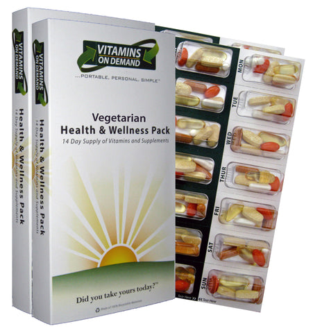 Vegetarian Health & Wellness Vitamin Pack (4-Week Supply)
