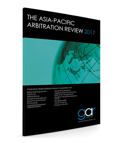 The Asia-Pacific Arbitration Review 2017