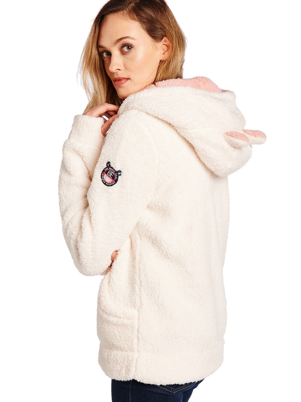 Fresh White Soft Furry Sweater Women