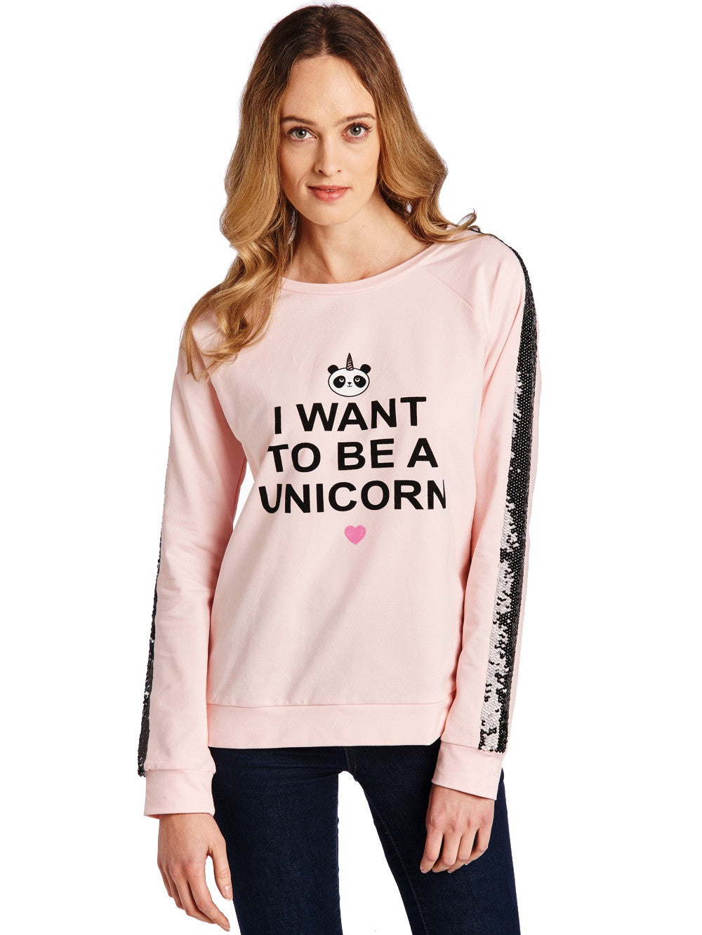 Bubble Pink Sequins Sweater Women