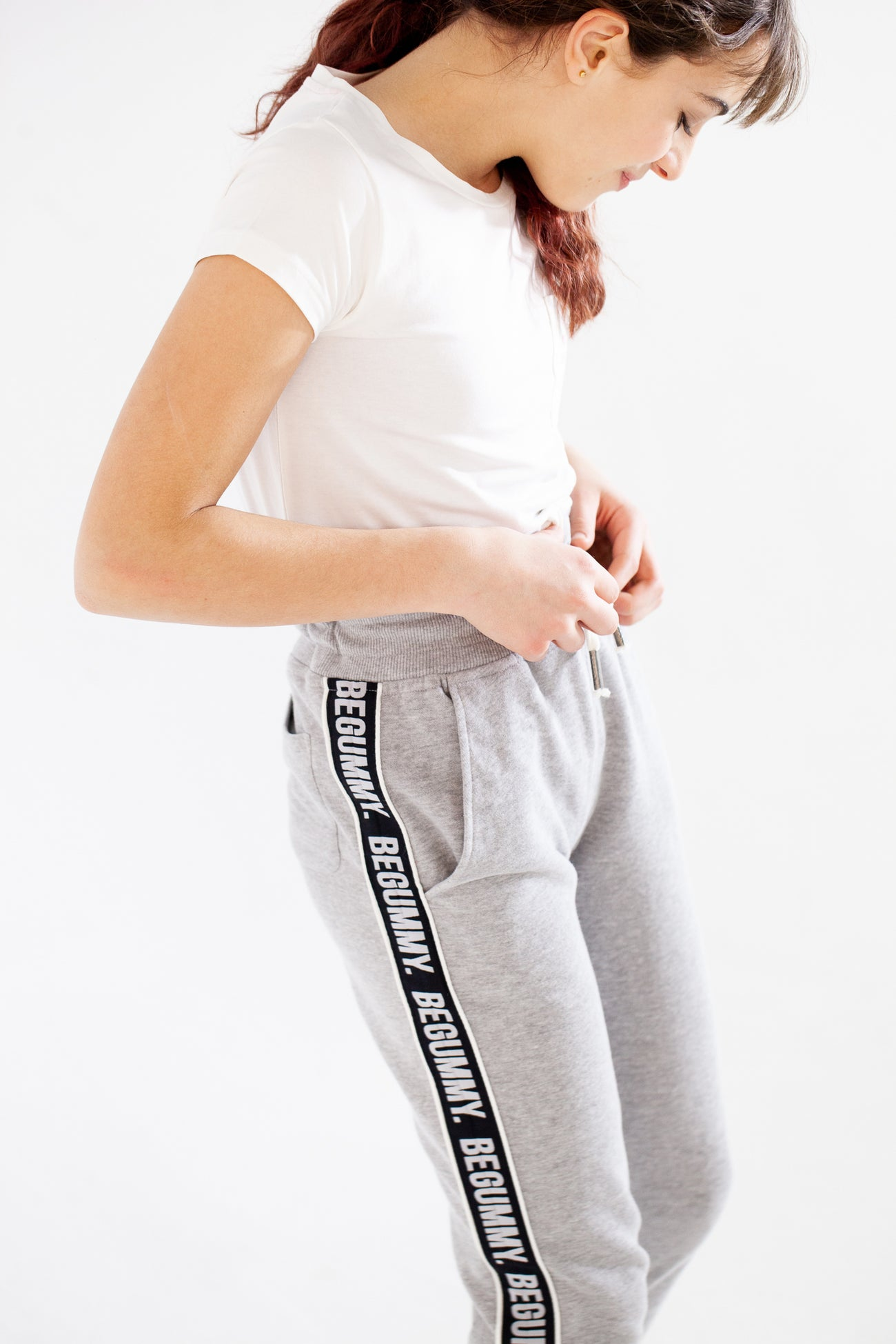 Pantalon Jogging Gris Chiné Enfants