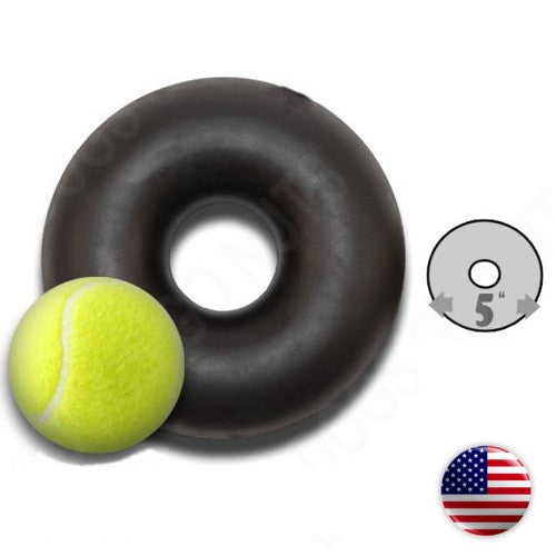 Extreme Dog Toy Black Ring by GoughNuts