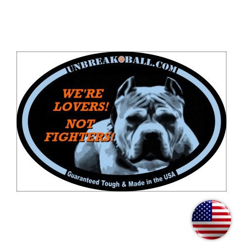 Lovers Not Fighters Pit Bull Sticker