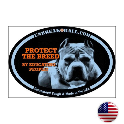 Protect The Breed Pit Bull Sticker