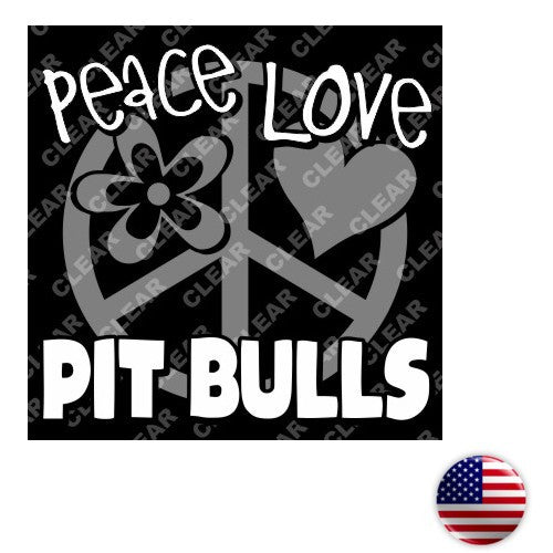 Peace Love Pitbulls Sticker
