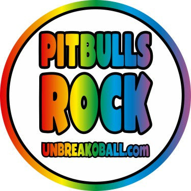 "PITBULLS ROCK 3"" Round Sticker"