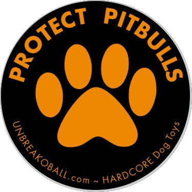"Protect Pitbulls 3"" Round Sticker"