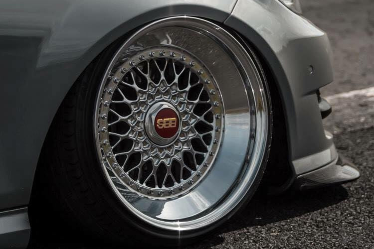 "16/"" BBS RS 34 Bolt 3/"" Aluminium Split Rim Outer Deep Dish Polished Wheel Lip"