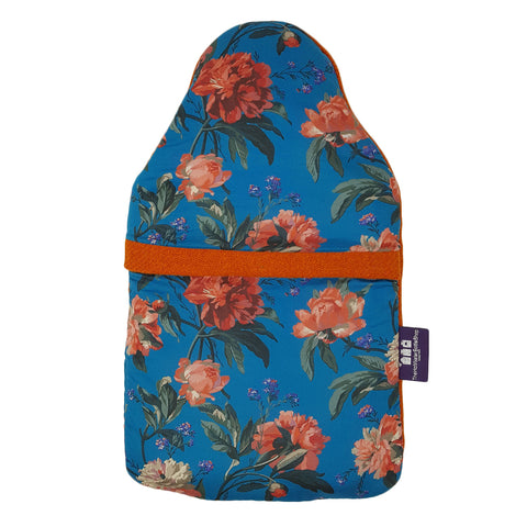 Made In Britain Decadent Blooms Liberty & HARRIS TWEED Contrast Cover with Bottle