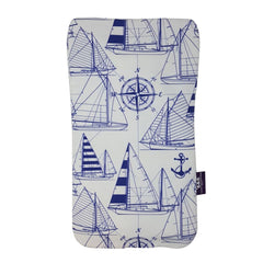 Made In Britain Navy Sailboats Handle Cover & Bottle