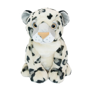 Eira The Snow Leopard - Medium Cuddly Toy With Ceramic Bead Pillow