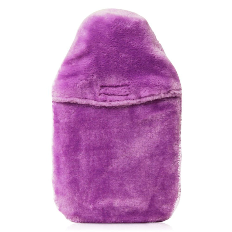 Coronation Traditional Purple Soft Fur Cover and Hot Water Bottle