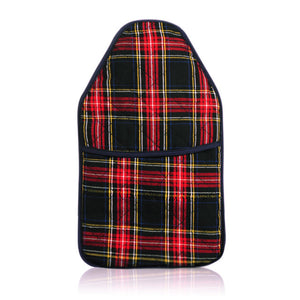 Coronation Heritage Navy Tartan Cover and Hot Water Bottle