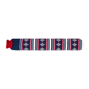 Cerise Snowflake Body Warming Long Hot Water Bottle