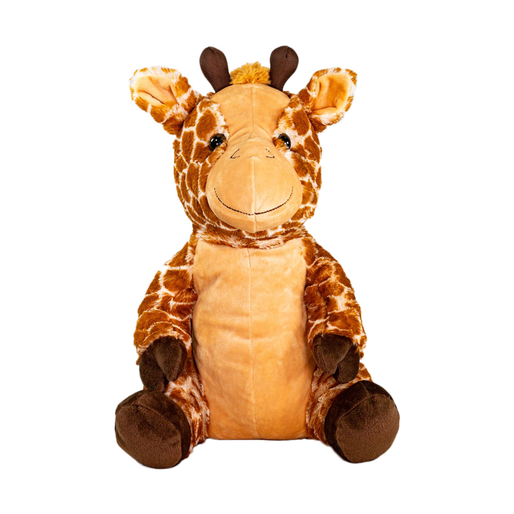 Geoffrey The Giraffe - Medium Cuddly Toy With Ceramic Bead Pillow