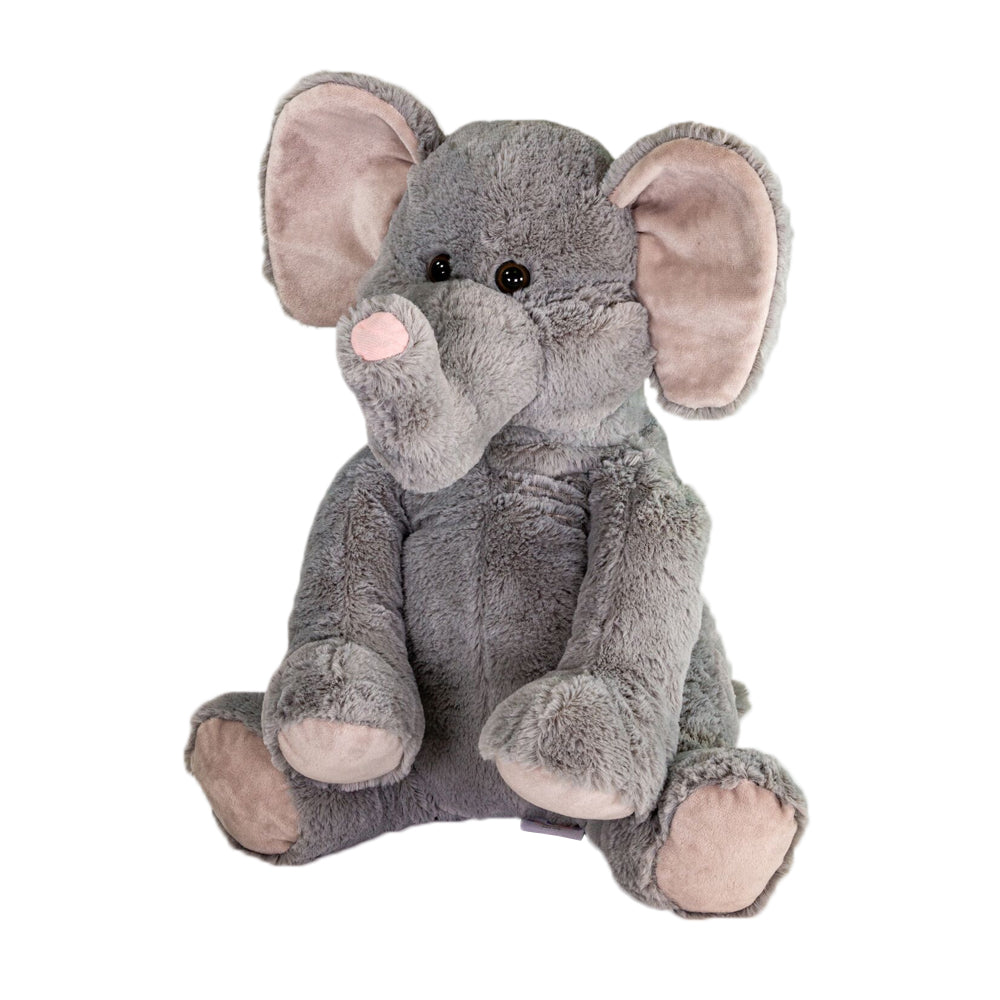 Eddie The Elephant - Large Cuddly Toy With Ceramic Bead Pillow