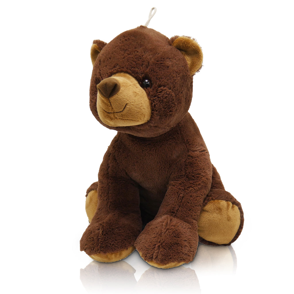 Barnaby The Brown Bear - Large Cuddly Toy With Ceramic Bead Pillow