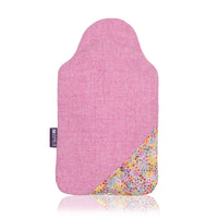 Pink Poppies hot water bottle cover and rubber bottle