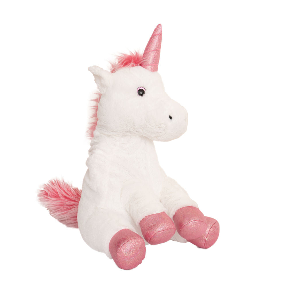 Unicorn wheat toy angled view