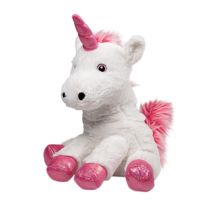 Fifi The Unicorn - Medium Cuddly Toy With Ceramic Bead Pillow