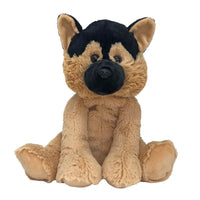 Garrin The German Shepard - Medium Cuddly Toy With Ceramic Bead Pillow