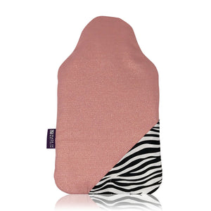 Zebra print hot water bottle cover and rubber bottle