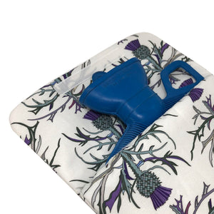 Made In Britain Scottish Garden Thistle Cover With Handled Hot Water Bottle