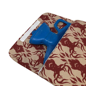 Made In Britain Raven Stags Cover With Handled Hot Water Bottle