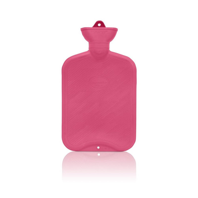 Red Coronation 2 Litre plain sides Rubber hot water bottle