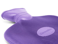 Violet Kashmir Coronation 2 Litre rib 2 sides Rubber hot water bottle