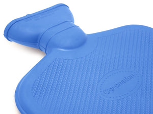 Blue Coronation 1.5 Litre Rubber hot water bottle