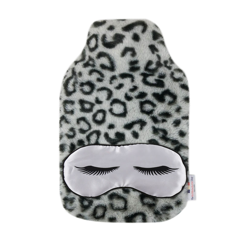 Soft Snow Leopard Faux Fur With Eye Mask- 1.7L