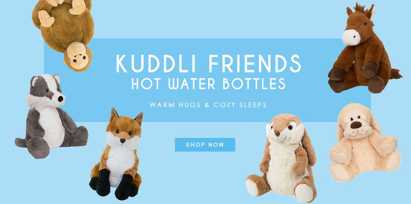 Kuddli Friends Hot Water Bottle Animals