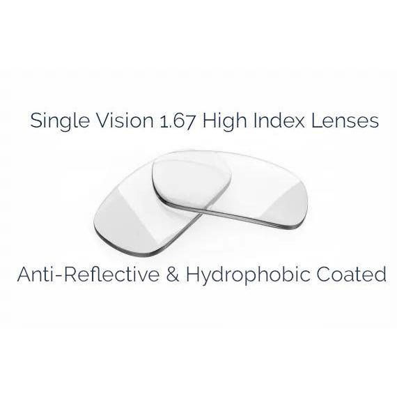 Single Vision: 1.67 High Index