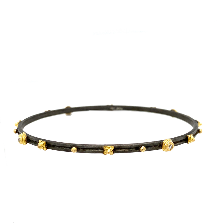 Bezel Bangle - Lesley Ann Jewels