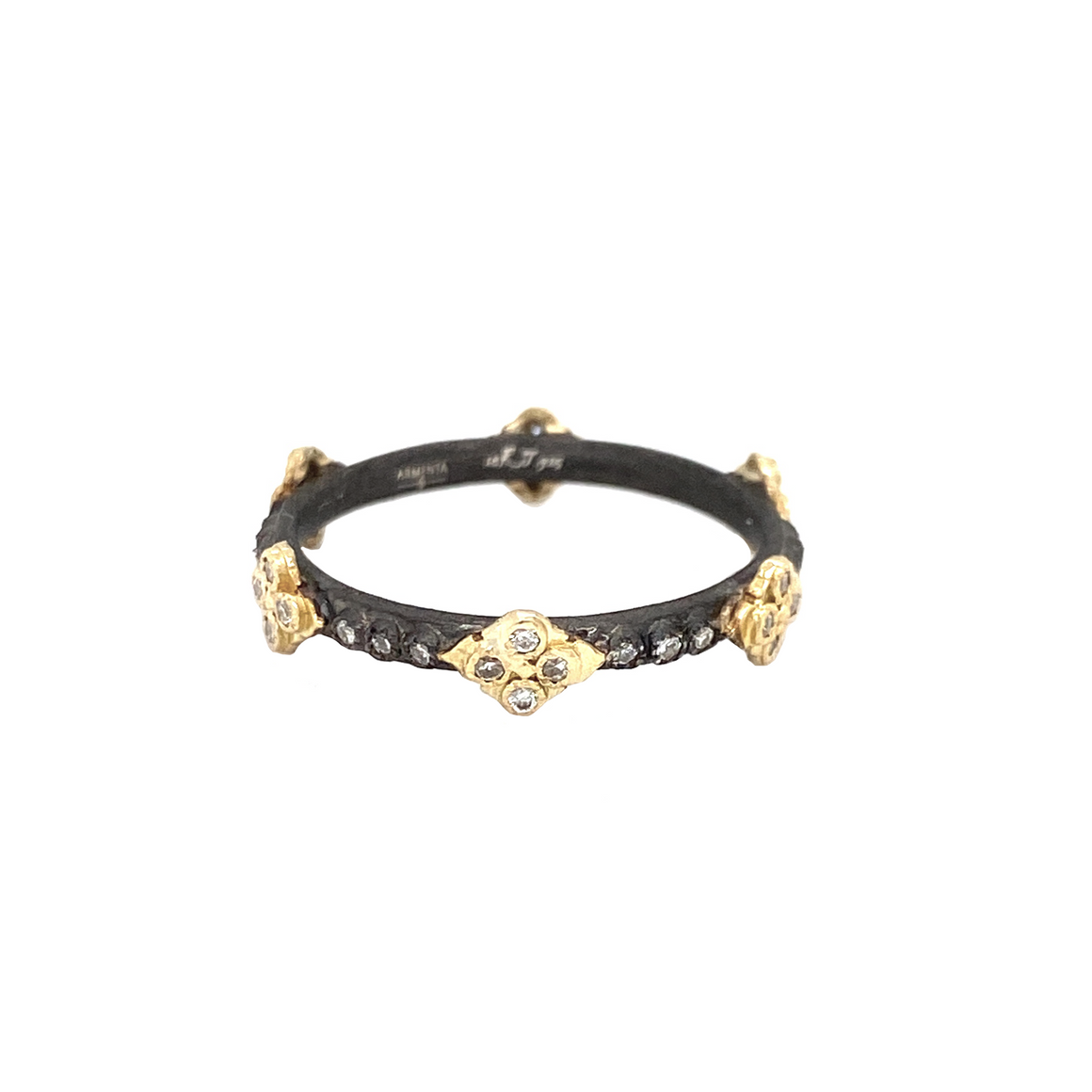 Midnight Crivelli Cross Ring - Lesley Ann Jewels