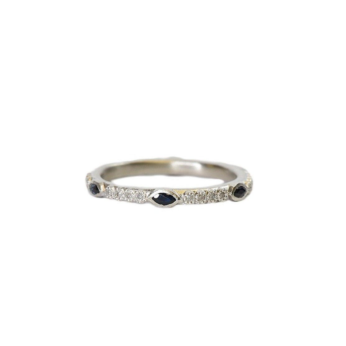 Sapphire Stack Band - Lesley Ann Jewels