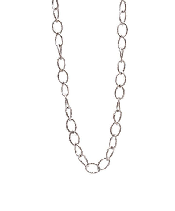 Oval link silver necklace - Lesley Ann Jewels