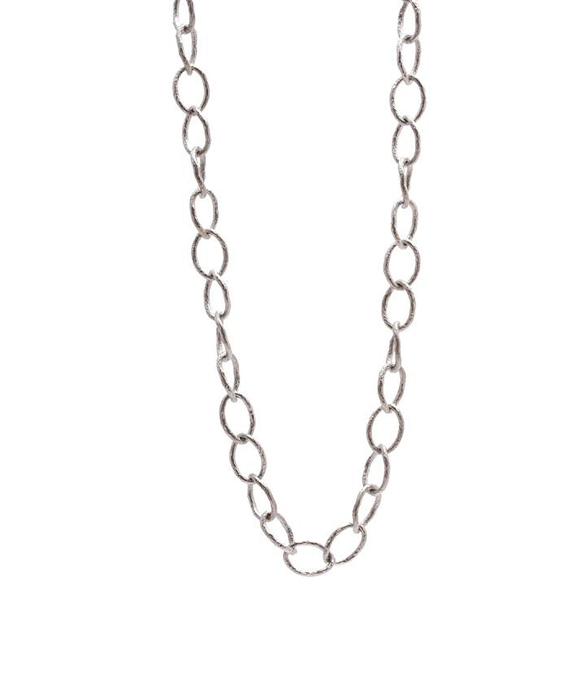 Oval link silver necklace